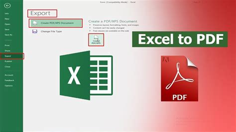 how to convert excel to pdf without losing formatting