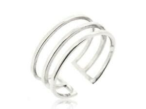 925 Sterling Silver Midi Find Adjustable Women Ring Double
