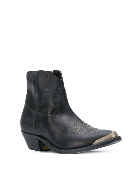 Golden Goose - Young black leather ankle boots - ankle