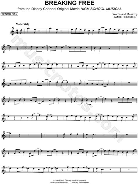 """""""Breaking Free"""" from 'High School Musical' Sheet Music"""