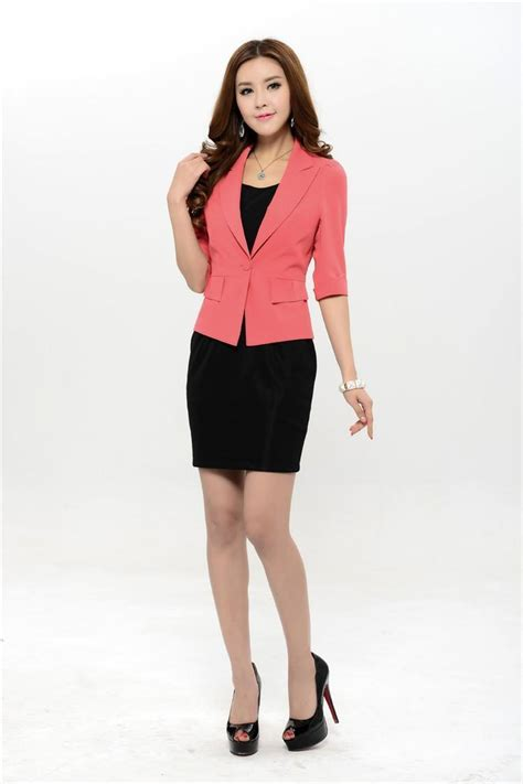 New 2016 Spring Formal Women's Suits Blazer With Dress