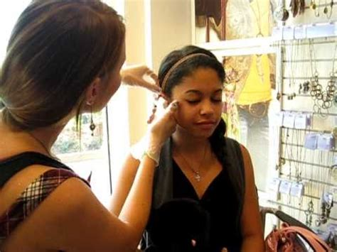 cartilage piercing at Claires!! - YouTube