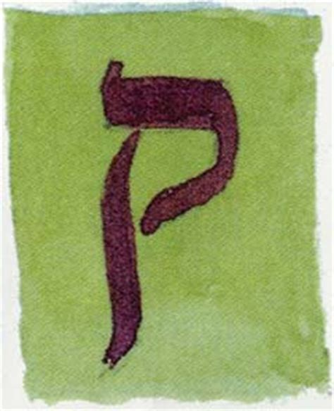 Kuf - The nineteenth letter of the Hebrew alphabet