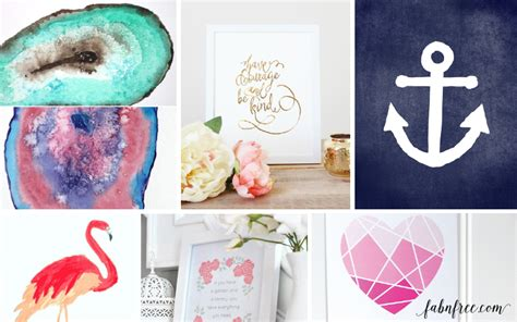 FREE printable wall art pieces! 10 to choose from!