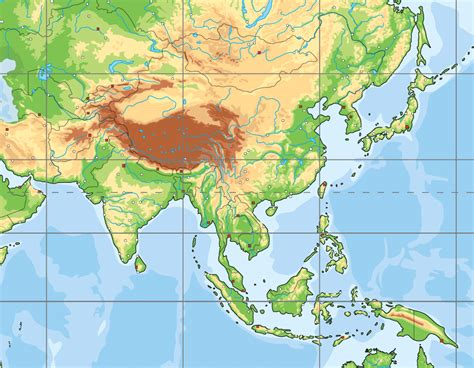 South Asia physical map (blank) - Map Quiz Game