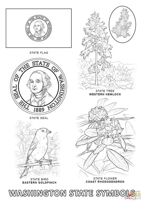 Washington State Coloring Page - Coloring Home