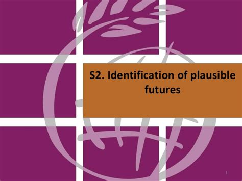 Identification of plausible futures
