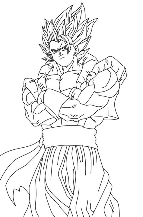 Gogeta Coloring Pages - Coloring Home