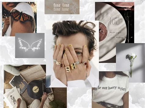 white harry styles aesthetic wallpaper for iPad in 2020