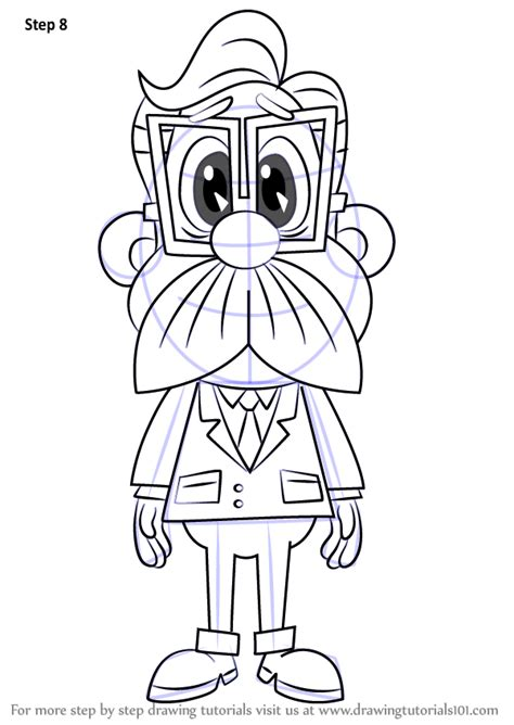 Step by Step How to Draw Chief Quimby from Inspector