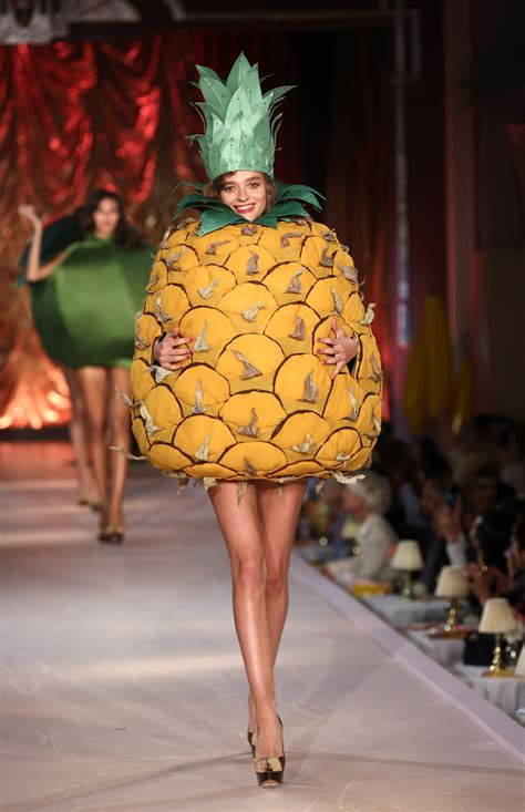 These models walked the runway in sexy fruit costumes, and