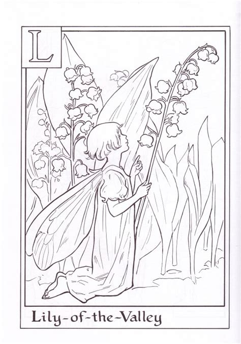 Flower Fairy Coloring Pages - Coloring Home