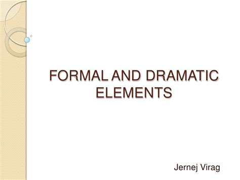 Game design - formal and dramatic elements