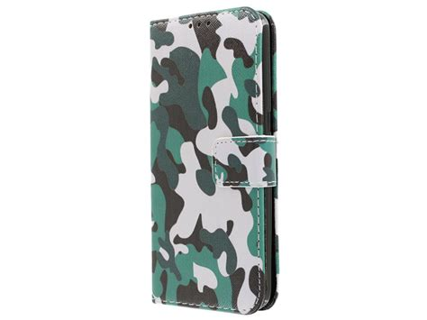 Camouflage Army Bookcase | Samsung Galaxy S7 hoesje