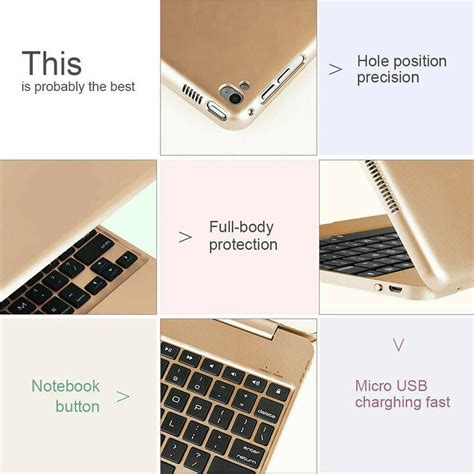 Wireless Keyboard Smart Case Cover Cover For iPad 6th