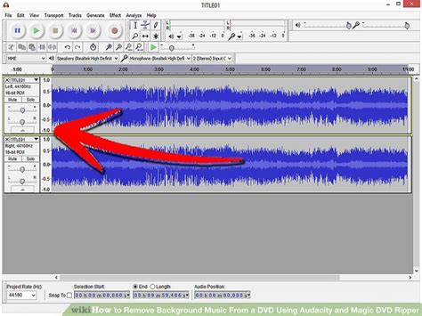 How to Remove Background Music From a DVD Using Audacity