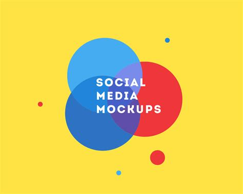 Free Social Media Mockup PSD for FaceBook, YouTube and Twitter