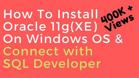 Oracle Database 11g XE (Express Edition) Install guide and