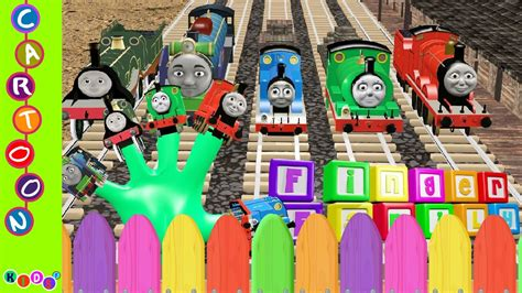 3D Thomas and Friends Nursery Rhymes Finger Family By