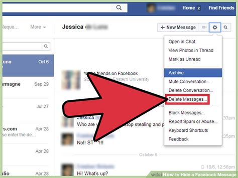 How to Hide a Facebook Message: 10 Steps (with Pictures