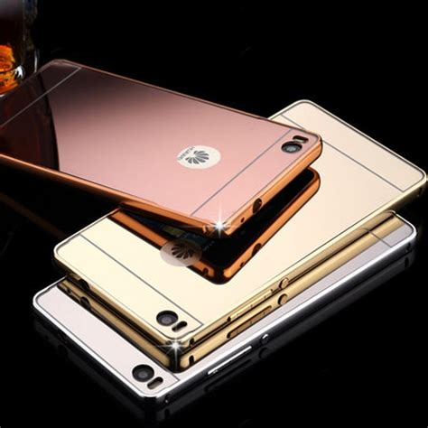 Cool Mirror Phone Case Alloy Metal Bumper Frame Pc Back