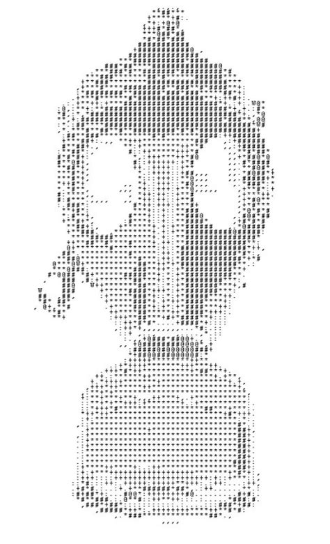 ASCII Gas Mask | Images of space and fantasy | Pinterest