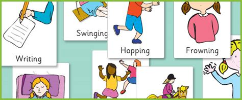 Illustrated Verb Posters (SEN, EAL resources) | Free Early