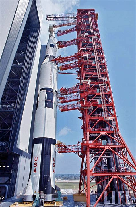 Saturn-5 rocket (SA-500F), the first Rollout, 1966   Flickr