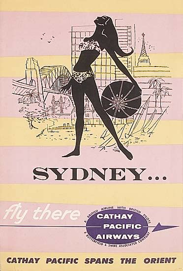 Travel poster, 'Sydney/Fly There/ Cathay Pacific Airways