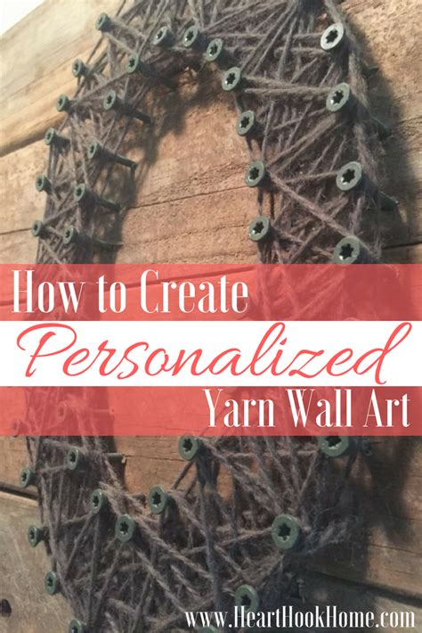 How to Create Yarn Art with a Pallet (or Fence Board) and